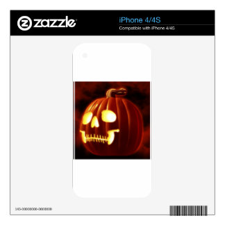 Jack-o-lantern Decal For The iPhone 4S