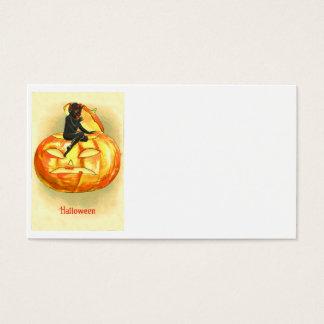 Jack O Lantern Devil Vintage Halloween Business Card