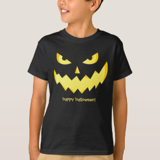 Jack-o'-lantern Evil faces - Happy Halloween! T-Shirt