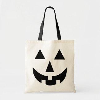 Jack O Lantern Face Black Canvas Bag