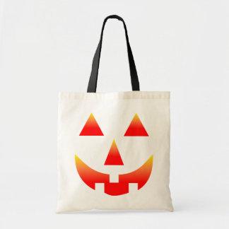 Jack O Lantern Face Fire Red Bag