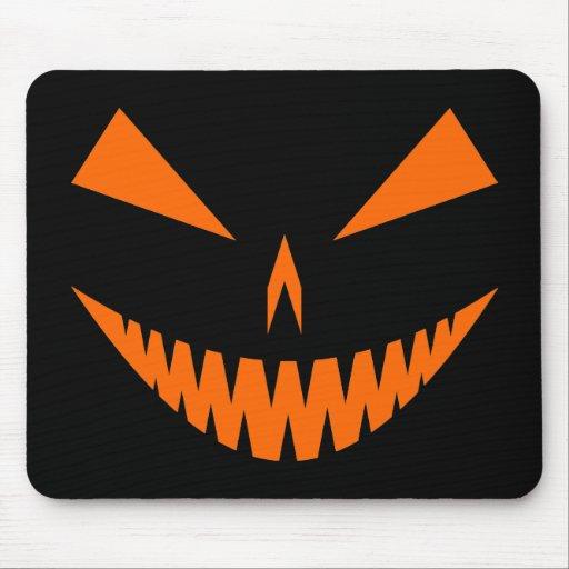 Jack-O'-Lantern Face I, Orange Mouse Pad