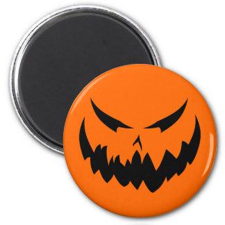 Jack-O'-Lantern Face II, Black Fridge Magnet