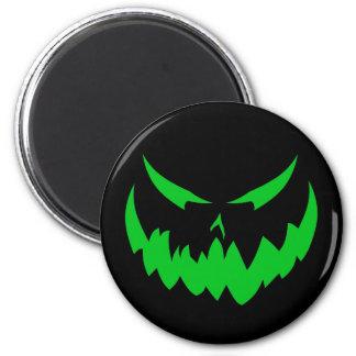 Jack-O'-Lantern Face II, Green Fridge Magnet