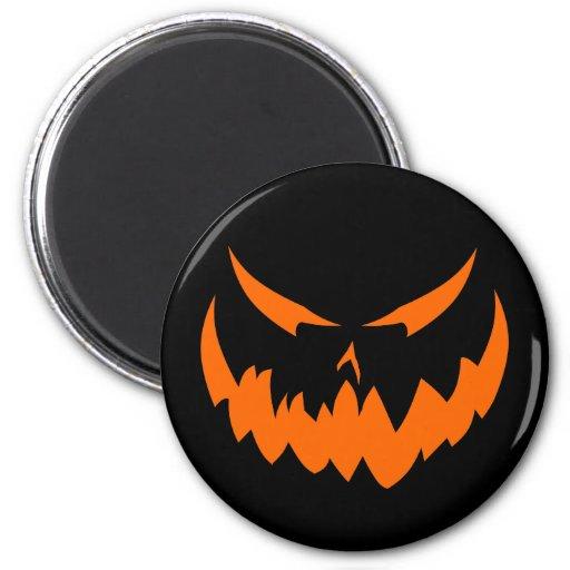 Jack-O'-Lantern Face II, Orange Magnet