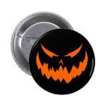 Jack-O'-Lantern Face II, Orange Pinback Button
