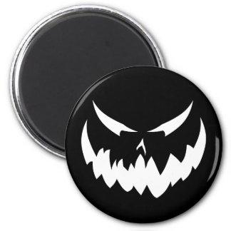 Jack-O'-Lantern Face II, White Refrigerator Magnets
