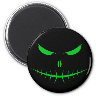Jack-O'-Lantern Face III, Green Refrigerator Magnet