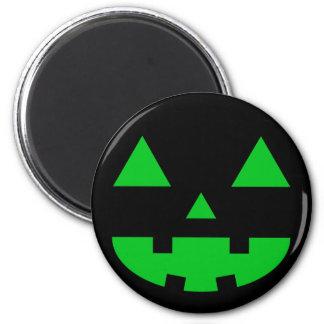 Jack-O'-Lantern Face IV, Green Fridge Magnet