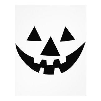 Jack-O-Lantern Face Letterhead