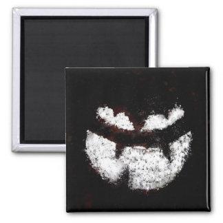 Jack O' Lantern Face 2 Inch Square Magnet