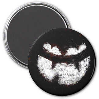 Jack O' Lantern Face 3 Inch Round Magnet
