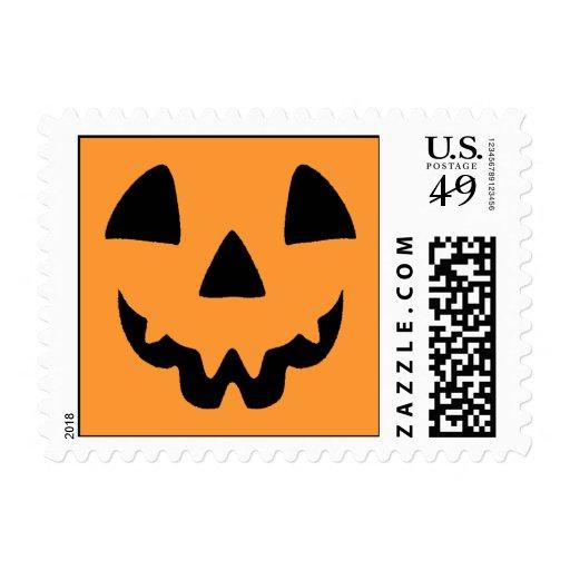 Jack-O-Lantern Face Postage Stamp