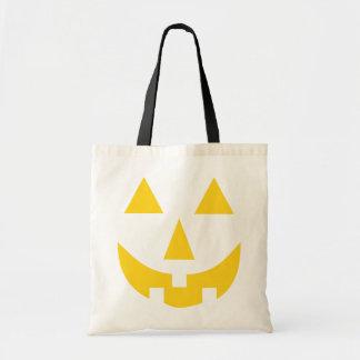 Jack O Lantern Face Yellow Tote Bag