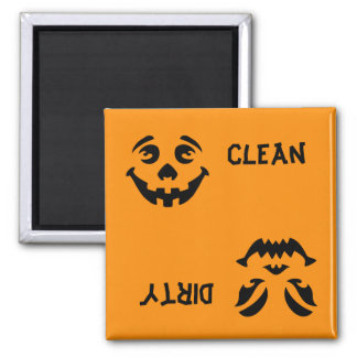 Jack-o-Lantern Faces Dishwasher Magnet