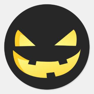Jack-o'-lantern faces - Happy Halloween! Classic Round Sticker
