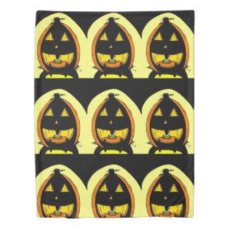 Jack o' Lantern Front/ Black Reverse Duvet Cover