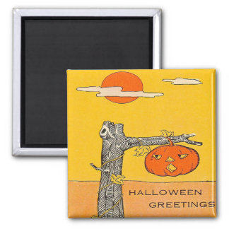 Jack O' Lantern Full Moon Tree Magnet