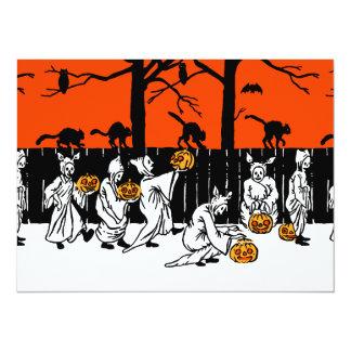 Jack O' Lantern Ghosts Vintage Pattern Card