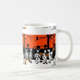 Jack O' Lantern Ghosts Vintage Pattern Coffee Mug