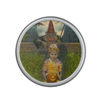 Jack O' Lantern Girl Witch Full Moon Bat Bluetooth Speaker