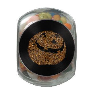 Jack-o'-lantern Glass Candy Jars