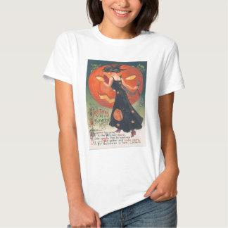 Jack O Lantern Goblin Witch Owl T-Shirt