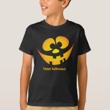 Jack-o'-lantern goofy faces - Happy Halloween! T-Shirt