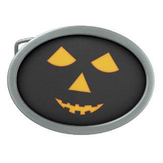 Jack-o-Lantern Halloween Belt Buckle