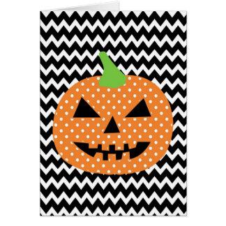 Jack-o-Lantern Halloween Card