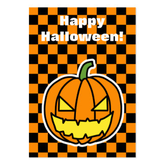 Jack-o'-lantern Halloween card (edit your message) Large Business Cards (Pack Of 100)
