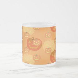Jack o Lantern halloween Frosted Glass Coffee Mug