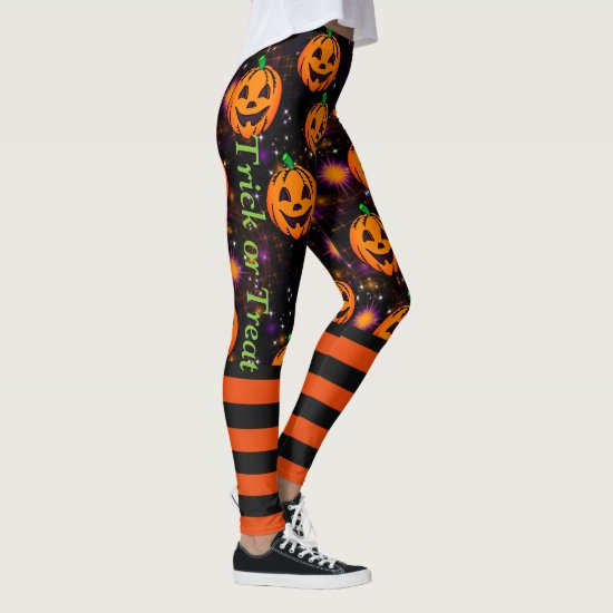 Jack-O-Lantern Halloween Leggings Pumpkin Pants