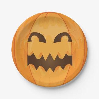 Jack O Lantern Halloween Paper Plate