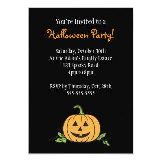 Jack 'O Lantern Halloween Party 5x7 Paper Invitation Card