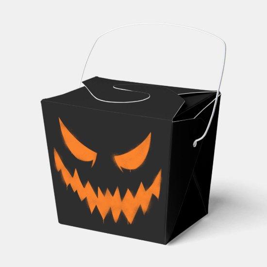 Jack-O-Lantern Halloween Party Favor Box