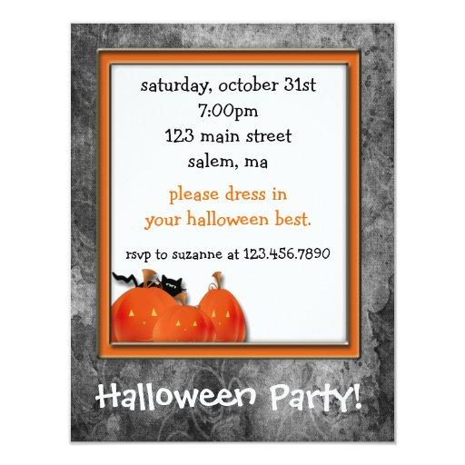 Jack-o-lantern Halloween Party Invitation