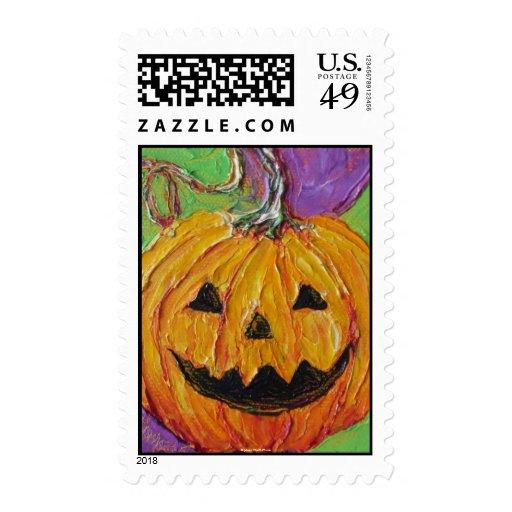 Jack-O-Lantern Halloween Postage Stamps