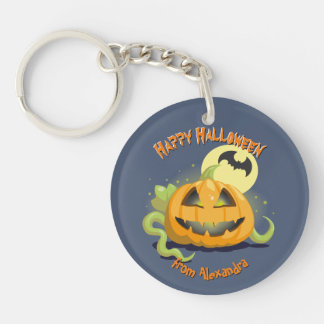 Jack O' Lantern Halloween Pumpkin Keychain