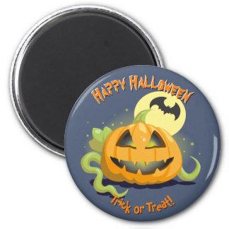 Jack O' Lantern Halloween Pumpkin 2 Inch Round Magnet