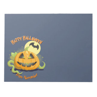 Jack O' Lantern Halloween Pumpkin Notepad