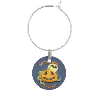 Jack O' Lantern Halloween Pumpkin Party Wine Charm