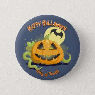 Jack O' Lantern Halloween Pumpkin Pinback Button