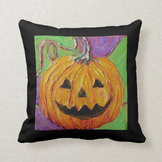 Jack-O-Lantern Halloween Throw Pillow
