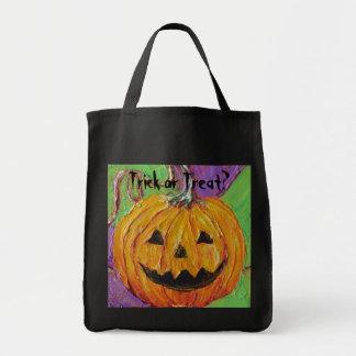 Jack-O-Lantern Halloween Tote Bag