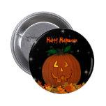 Jack-O-Lantern Happy Halloween Button