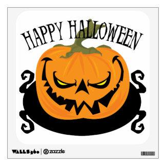 Jack-o-lantern - Happy Halloween Wall Decal