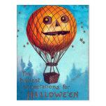 Jack O Lantern Hot Air Balloon Postcards