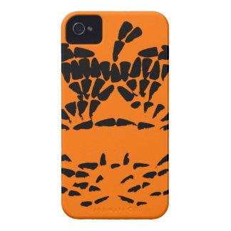 Jack-O-Lantern Icon Black on Orange iPhone 4 Cover