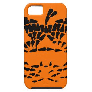 Jack-O-Lantern Icon Black on Orange iPhone 5 Covers
